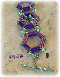 Beaded Bracelet Ande Gyöngy: Kriszta karkötője bugle beads