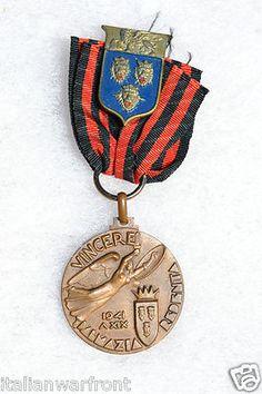 Art Deco Medal - Italian WWII 1941 Fascist Medal Pin Badge Vincere Dalmazia Redenta Italy WW2 | eBay