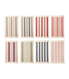 """IKEA Signe Door Mat ($4) """"The Signe door mats which come in a variety of colors have a clean stripe and feel fun and youthful. Their friendly price point makes them easy to swap out if they become damaged or stained."""""""