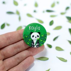 Nurse Name Badge - Panda Nurse Name Badge, Panda Names, Nursing Pins, Name Badges, Air Dry Clay, Great Friends, Clay Crafts, Colorful Pictures, Animals And Pets