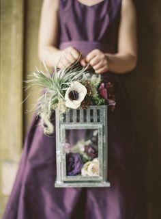 Purple flower girl dress | Photo by Braedon Flynn | Read more - http://www.100layercake.com/blog/?p=69009