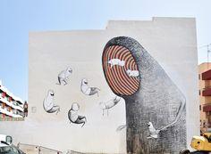 """La Trampa"", a new mural by Bisser in Ibiza"