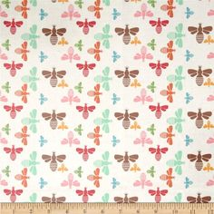 Riley Blake Laminate Flower Bees Multi from @fabricdotcom  Designed by Lori Holt of Bee In My Bonnet for Riley Blake, this laminated cotton print fabric meets the key provisions of the CPSIA (Comprehensive Consumer Product Safety Improvement Act of 2008). This fabric does not contain any lead or thyolate. Soft, protective film is laminated to the face of the fabric, its softness makes this cloth extremely pliable for fashion, and the durability combined with easy-care convenience (cleans up…