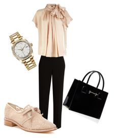 """""""Untitled #2"""" by aoibhin-corroon on Polyvore featuring The Row, Adrianna Papell and Rolex Adrianna Papell, The Row, Rolex, Polyvore, Image, Fashion, Moda, Fashion Styles, Fashion Illustrations"""