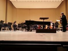 Front and center at the Atlanta Symphony Orchestra.  Awesome