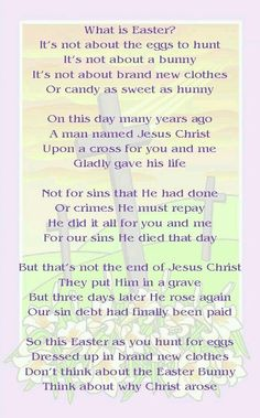 poem to split up and have kids recite...then song maybe?