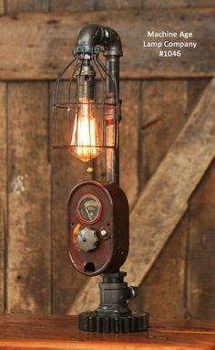 homemade lighting fixtures. steampunk lamp industrial machine steam light tractor farmall ih farm homemade lighting fixtures