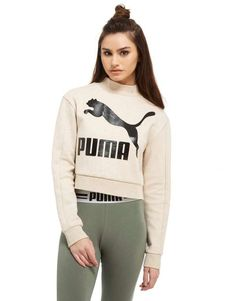 promo code 0a015 27156 PUMA High Neck Crew Sweatshirt   JD Sports