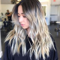 Image result for korean girl black to blonde hair