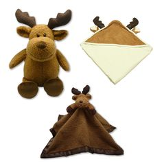 I had the best stuffed moose ever as a child! My baby needs this! Moose Nursery, Woodland Nursery, Madison Grace, Preparing For Baby, Baby Boy Blankets, Baby Needs, Baby Room, Cute Babies, Teddy Bear