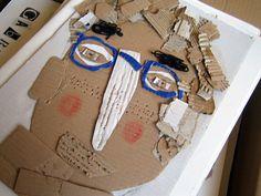 Cardboard self portraits...Love this!
