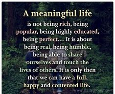A Meaningful Life Is Not Being Rich Materialistic Quotes Life