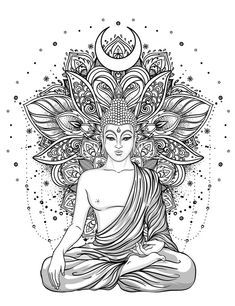 Buddha Tattoo Design, Buddha Tattoos, Mandala Tattoo Design, Dotwork Tattoo Mandala, Lotus Tattoo, Tattoo Ink, Hand Tattoos, Sleeve Tattoos, Buddhism Tattoo