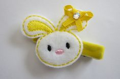 Easter Bunny Clippie in Bright Yellow