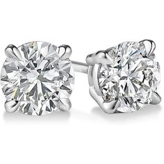 Round Four-Prong Basket Diamond Stud Earrings in 14kt White Gold (0.50... ❤ liked on Polyvore featuring jewelry, earrings, diamond jewelry, white gold diamond earrings, white gold jewellery, studded jewelry and stud earring set