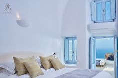 Experience total privacy and pure serenity in the comfort of your Pool suite! - at Astra Suites Santorini Luxury Hotels, Hotel Suites, Escape Room, Finding A House, Swimming Pools, Pure Products, The Originals, Bed, Serenity