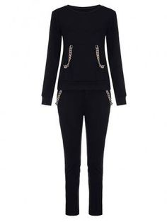 Women Sport Cotton Solid Thick Chain Tracksuit Ralph Lauren Womens Clothing, Coats For Women, Clothes For Women, Tracksuit Tops, Fashion Clothes Online, Active Wear For Women, Latest Fashion For Women, Sports Women, Chain