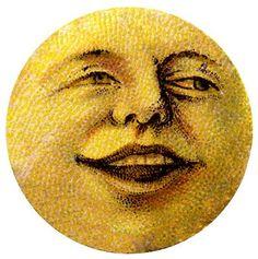 Antique Image - Happy Moon ManThe Graphics Fairy