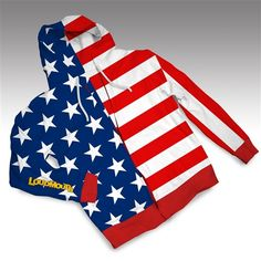 Loudmouth Golf Spring Hoodies - Stars & Stripes.  Buy it @ ReadyGolf.com