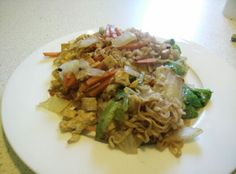 Random vegetarian fried noodles