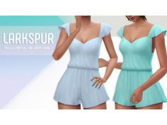 The Sims 4 LARKSPUR a romper by viiavi