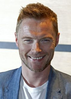 """Irish popstar Ronan Keating poses during a photocall for the film """"Goddess"""" by director Mark Lamprell at the 65th Cannes Film Festival, May 21, 2012."""