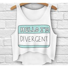 Hello Divergent Printed Crop Top Women Tank Top Summer Short... ($16) ❤ liked on Polyvore featuring tops, crop top, black, women's clothing, black top, sleeveless tshirts, short tops, black short top and sleeveless t shirt