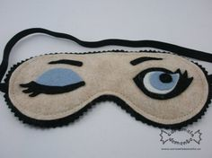 This would be an easy DIY -- Felt sleep mask by caramelodemente, €15.00