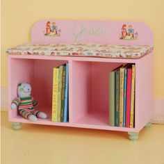 Cute little bench idea for an eclectic, vintage inspired girl's room