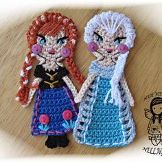 Crochet PATTERN, FROZEN, Applique, from NellagoldsCrocheting on
