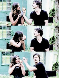 Nina Dobrev & Ian Somerhalder they are perfect for eachother on and off the set