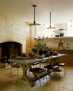 large kitchen hearth