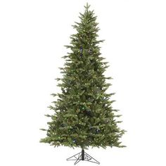 Vickerman Fresh Balsam 7.5' Green Fir Artificial Christmas Tree with 750 LED Multi-Colored Lights