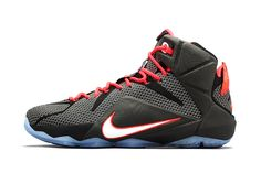 sports shoes 5aa5e b7049 Nike LeBron 12 Court Vision Release Date and Official Images Black Bright  Crimson White 684593 016