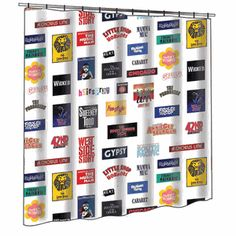 Totally want this for a bathroom in my house some day... how about a musically themed guest bath?? I think YES! BROADWAY CARES CLASSIC COLLECTION SHOWER CURTAIN