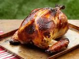 Honey Brined Smoked Turkey Recipe : Alton Brown : Recipes : Food Network By far the best brine ever! Traeger Recipes, Smoker Recipes, Cooking Recipes, What's Cooking, Meat Recipes, Chicken Recipes, Thanksgiving Turkey, Thanksgiving Recipes, Barbacoa