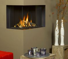 contemporary corner fireplace (gas closed hearth) TRIMLINE 63 ThermoCet BV