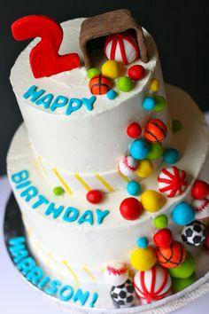 Ball themed birthday cake    GoodieBox Bakeshop Hoboken, NJ