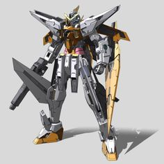 GN-003 Gundam Kyrios (aka Gundam Kyrios, Kyrios) is a third generation gundam featured in season one of Mobile Suit Gundam 00. The unit is piloted by Allelujah Haptism. Front