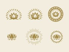 25 Fantastic Plant & Flower Logos mmmm maybe a lotus in the middle and a dragon going down my shoulder to my back Logo Branding, Branding Design, Logo Design, Graphic Design, Product Branding, Business Branding, Hamsa, Candle Logo, Lotus Logo