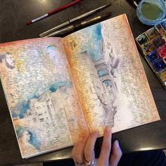 As we talked last year about the miniature paintings of Dina Brodsky, the American artist unveils today her beautiful sketchbooks. Wandering around the globe