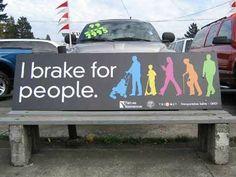 brake for people
