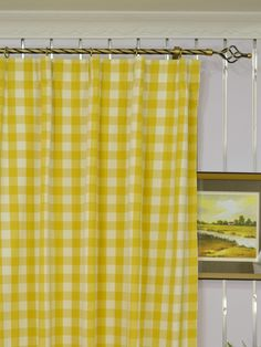Moonbay Small Plaids Versatile Pleat Cotton Extra Long Curtains 108 - 120 Inch - Cheery Curtains   Cheery Curtains: Ready Made and Custom Made Curtains For Less