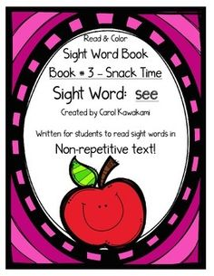 Sight word books - This sight word book was written to practice a basic sight word  see. The text in this sight word book is written in NON-REPETITIVE text so students must attend to print!   The text and graphics are clear in this sight word book for easy access for young children.