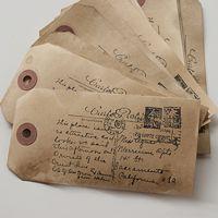 Vintage Carte Postal Tags