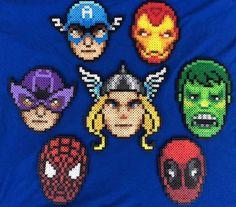 Perler Bead avengers