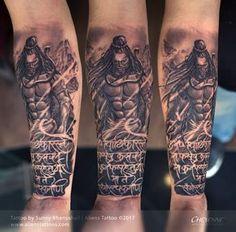 Fury of Lord Shiva Tattoo by Sunny Bhanushali at Aliens Tattoo India Bholenath Tattoo, Hindi Tattoo, Kali Tattoo, Mantra Tattoo, Shiva Tattoo Design, Ganesha Tattoo, God Tattoos, Sanskrit Tattoo, Tatoo Art
