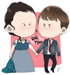 My Mad Fat Diary: Rae in her bridesmaid's dress, with Finn. Artwork by Jong Parksin.