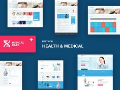 Medical Care - Health and Medical PSD Template by Wrap Pixel