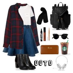 """OOTD"" by joklp ❤ liked on Polyvore featuring Rails, New Look, Monki, Maybelline, Lord & Berry, Harrods, MANGO and Frends"